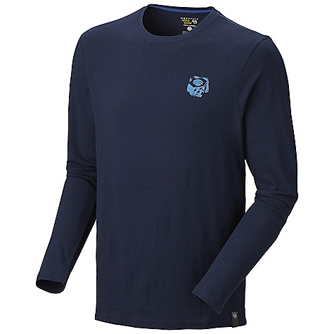 Mountain Hardwear Men's Eroded Logo L-S T DECENT FEATURES of the Mountain Hardwear Men's Eroded Logo Long Sleeve T Nice graphic detail The SPECS Apparel Fit: Semi-Fitted Average Weight: 7.2 oz / 203 g Center Back Length: 28in. / 71 cm Body: Owino Jersey (100% cotton) - $39.95