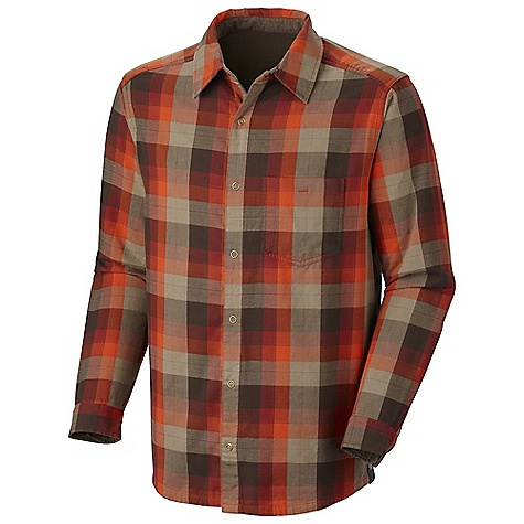 Free Shipping. Mountain Hardwear Men's Marty In Reverse L-S Shirt DECENT FEATURES of the Mountain Hardwear Men's Marty In Reverse Long Sleeve Shirt Shirt is reversible and can be worn turned inside out Snap front closure The SPECS Average Weight: 10.8 oz / 306 g Apparel Fit: Semi-Fitted Center Back Length: 30in. / 76 cm Body: Martys double Weave (100% cotton) - $74.95