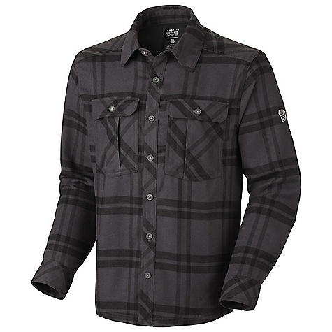 Free Shipping. Mountain Hardwear Men's Trekkin Flannel L-S Shirt DECENT FEATURES of the Mountain Hardwear Men's Trekkin Flannel Long Sleeve Shirt Wicking, fast drying fabric Two chest pockets for storage Hidden zippered pocket for secure storage behind wearers left chest pocket UPF 50 The SPECS Apparel Fit: Semi-Fitted Weight: 11.5 oz / 325 g Center Back Length: 29in. / 74 cm Body: Mountain Flannel Plaid (100% polyester) - $74.95