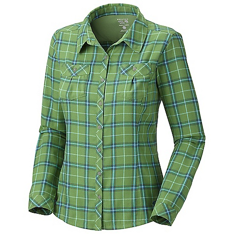 On Sale. Free Shipping. Mountain Hardwear Women's Trekkin Flannel L-S Shirt DECENT FEATURES of the Mountain Hardwear Women's Trekkin Flannel Long Sleeve Shirt Super soft flannel wicks away moisture Two chest pockets for storage The SPECS Average Weight: 10 oz / 283 g Center Back Length: 26in. / 66 cm Body: Synthetic Flannel (100% polyester) - $43.99