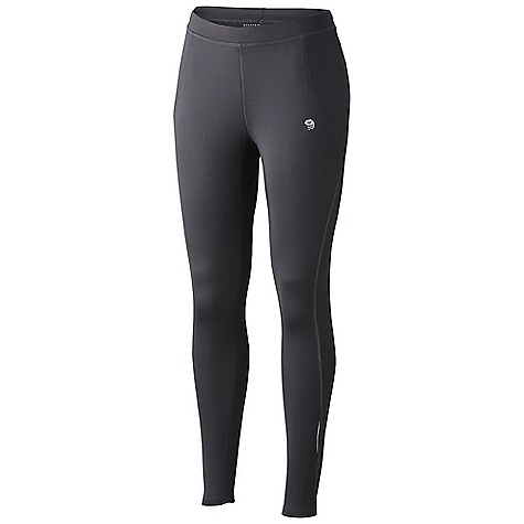 Free Shipping. Mountain Hardwear Women's Super Power Tight DECENT FEATURES of the Mountain Hardwear Women's Super Power Tight Wide low-profile waistband for comfort Low profile back pocket with zipper for secure storage Soft drawcord at waist for easy fit adjustments Inseam gusset for mobility Reflective trim for visibility Flat-lock seam construction eliminates chafe The SPECS Apparel Fit: Fitted Average Weight: 8.2 oz / 232 g Inseam: 27.5in. / 70 cm Body: Super Power Brushed Jersey (90% polyester, 10% elastane) - $79.95