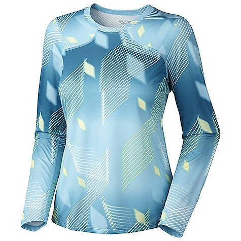 Mountain Hardwear Women's Wicked Electric L-S DECENT FEATURES of the Mountain Hardwear Women's Wicked Electric Long Sleeve Wicking, fast drying fabric Antimicrobial finish controls odor Flat-lock seam construction eliminates chafe Reflective trim for visibility The SPECS Apparel Fit: Semi-Fitted Average Weight: 4 oz / 113 g Center Back Length: 24.5in. / 62 cm Body: Wicked Electric Print (100% polyester) - $44.95