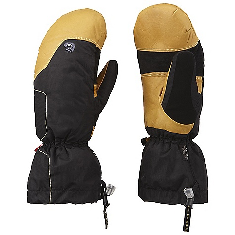 Entertainment On Sale. Free Shipping. Mountain Hardwear Jalapeno Mitt DECENT FEATURES of the Mountain Hardwear Jalapeno Mitt Over and under cuff design enhances versatility Thick fleece liner keeps hands warm all day All leather palm is rugged and very dexterous Soft suede thumb patch for wiping wet noses Easy to use single pull / quick release gauntlet adjustment blocks out elements The SPECS Average Weight: 8 oz / 236 g Body: Nylon Taslan (100% nylon) Laminate: OutDry Waterproof Technology Palm: Water-resistant Goatskin Leather Insulation: Thermic Micro - $92.99