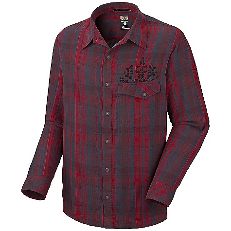Free Shipping. Mountain Hardwear Men's Glenston Long Sleeve Shirt DECENT FEATURES of The Mountain Hardwear Men's Glenston Long Sleeve Shirt Curved drop hem for back coverage Sleeves for arms Detailed with water-based placement print The SPECS Average Weight: 8 oz / 232 g Center Back Length: 30in. / 76 cm Fabric: Body: Bison Flannel Plaid (100% organic cotton) - $54.95