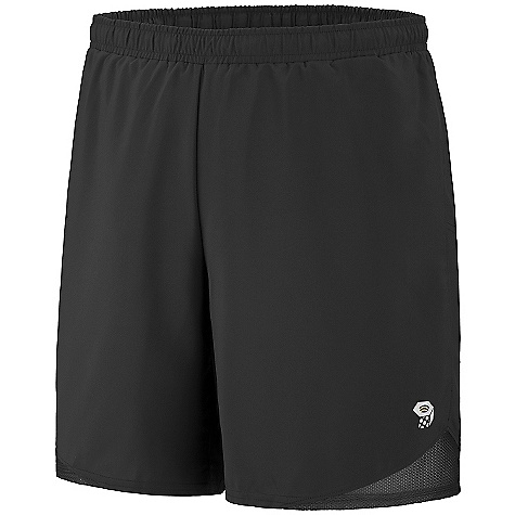 On Sale. Mountain Hardwear Men's Refueler Short DECENT FEATURES of the Mountain Hardwear Men's Refueler Short Wicking, fast-drying fabric Soft drawcord at waist for easy fit adjustments DWR finish accelerates drying time Wicking inner brief Reflective trim for visibility The SPECS Average Weight: 3 oz / 98 g Inseam: 5, 7, 9in. / 13, 18, 23 cm Body: Tilewood plain Weave (100% polyester) - $27.99