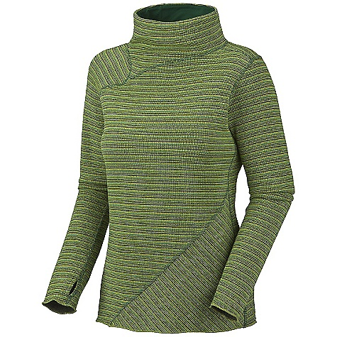 Free Shipping. Mountain Hardwear Women's Serrana Sweater DECENT FEATURES of The Mountain Hardwear Women's Serrana Sweater Relaxed mock neck for a flattering fit Thumb loops keep hands warm Flat-lock seam construction eliminates chafe The SPECS Average Weight: 13 oz / 369 g Center Back Length: 25in. / 64 cm Fabric: Body: Rana Sweater Fleece (40% polyester, 20% wool, 20% recycled wool, 18% nylon, 2% other fibers) - $89.95