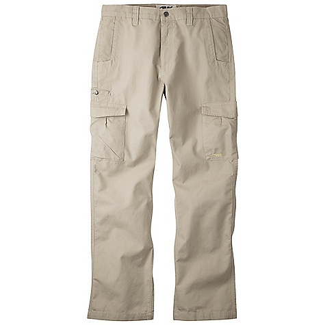 Free Shipping. Mountain Khakis Men's Original Cargo Pant DECENT FEATURES of the Mountain Khakis Men's Original Cargo Pant 8 oz 100% Cotton Canvas 8 Pockets Cell Phone Stash Pocket Low Profile Cargo Pockets with Snap Closure Patch Back Pockets with Snap Closure Diamond- Shaped Action Gusset YKK Zipper Reinforced Heel Cuffs Triple-Stitched Seams Garment Washed Mid-Rise, Relaxed Fit The SPECS Waist: 28-44 E, 31-35 O Inseam: 30in., 32in., 34in. Also: 34x36, 36x36, 38x36 - $94.95