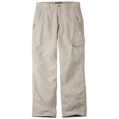 Features of the Mountain Khakis Men's Granite Creek Pant Scotchgard Treatment, UVA-UVB 50+ 6 Pockets with Mesh Pocket Bags, 3 Zip Security Pockets Cargo Pocket Quick-dry, Lightweight and Packable Diamond-Shaped Action Gusset YKK Zippers Reinforced Heel Cuffs Triple-Stitched Seams - $45.99