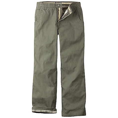 Free Shipping. Mountain Khakis Men's Flannel-Lined Original Mountain Pant FEATURES of the Mountain Khakis Men's Flannel-Lined Original Mountain Pant Body: 10.4 oz 2-Ply 100% Cotton Canvas Lining: 60% Cotton / 40% Poly Flannel Diamond-Shaped Action Gussett Reinforced Heel Cuffs 5 Pockets YKK Zipper Triple-Stitched Seams Garment Washed Mid-Rise, Relaxed Fit - $109.95