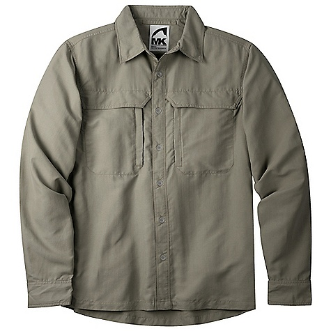 Free Shipping. Mountain Khakis Men's Granite Creek LS Shirt DECENT FEATURES of the Mountain Khakis Men's Granite Creek Long Sleeve Shirt 3.1 oz 100% Brushed Nylon Plain Weave Durable Water Repellent UVA-UVB 50+ Button Front Collar Adjusts for Sun/Wind Protection on Neck 2 Chest Pockets with Hidden Snap Closure Napoleon Zippered Chest Pockets for Security and Venting Vented Back Panel 2-Snap Cuff Adjustment Quick Dry, Wicking Casual Fit - $94.95
