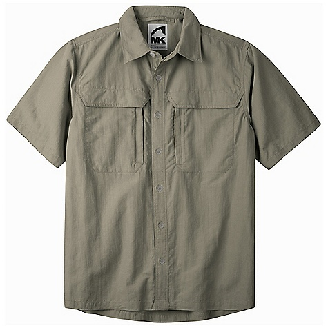 Free Shipping. Mountain Khakis Men's Granite Creek SS Shirt DECENT FEATURES of the Mountain Khakis Men's Granite Creek Short Sleeve Shirt 3.1 oz 100% Brushed Nylon Plain Weave Durable Water Repellent UVA-UVB 50+ Button Front Collar Adjusts for Sun/Wind Protection on Neck 2 Chest Pockets with Hidden Snap Closure Napoleon Zippered Chest Pockets for Security and Venting Vented Back Panel Quick-Dry, Wicking Casual Fit - $84.95