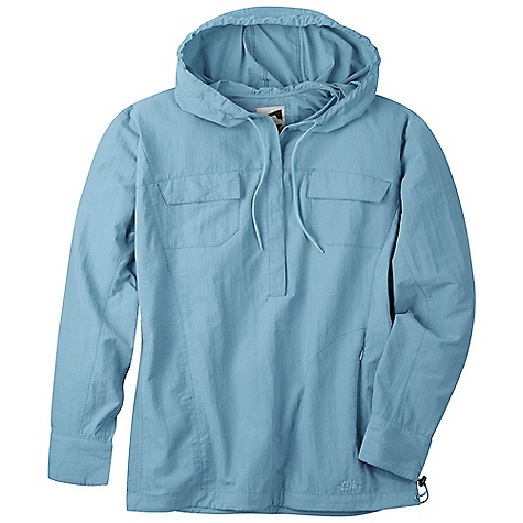 Free Shipping. Mountain Khakis Women's Granite Creek Hooded Popover Hoodie DECENT FEATURES of the Mountain Khaki Women's Granite Creek Hooded Popover Hood 3.7oz 100% Peached Nylon Taslan Durable Water Repellent UVA-UVB 50+ Button Front 2 Chest Pockets with Button Closure Zip Security Pocket One Handed Draw-Cord Waist Deep Drop Center Front Quick Dry, Wicking Chain Stitch Embroidery Contemporary Fit, Feminine Flair - $114.95