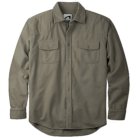 Free Shipping. Mountain Khakis Men's Chamois Shirt DECENT FEATURES of the Mountain Khakis Men's Chamois Shirt 5.25 oz 100% Cotton 2-Sided Brushed Flannel Rounded Chest Pockets with Button Closure Antique Silver-Reinforced Buttons Dual-Shoulder Shooting Patch Front Yoke Signature MK Back Yoke 2-Button Adjustable Cuffs Drop Tail Back Hem Embroidered Logo Treatment on Back Right Shoulder Garment Washed Casual Fit - $74.95