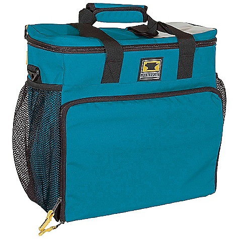 Entertainment Mountainsmith Deluxe Cooler Cube Bag DECENT FEATURES of the Mountainsmith Deluxe Cooler Cube Bag Reinforced Padded Haul Handles Fold Up Tool Pouch and Changing Pad Triple Compartment Gear Storage Coated Mesh Panels For Increased Breathability Drop-down beverage tray PEVA waterproof seam sealed lining Wide zip-top closure Haul handle for easy carrying Fits into all Modular Hauler Systems Side mesh pockets Backside sleeve pocket Clear label sleeve Bottle opener included Attachment points for Haulin' Padded Shoulder Strap (sold separately) The SPECS Dimension: (L x H x D): 15 x 15 x 7.5in. Weight: 2 lbs 6 oz / 1.09 kg Volume: 1600 cubic inches / 26 liter 150d Baby RipStop Poly PEVA Liner - $44.95