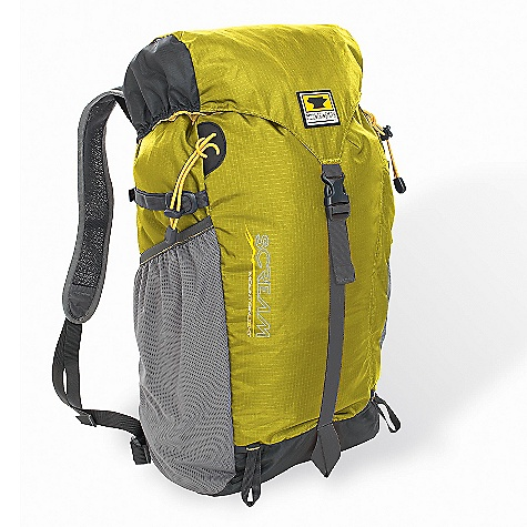 Camp and Hike Free Shipping. Mountainsmith Scream 25 Pack DECENT FEATURES of the Mountainsmith Scream 25 Pack Internal Hydration Bladder 210d High Tenacity Nylon Rip Stop Ten Essentials Accessory Front Pocket Side Compression Straps with Quick Release Hardware Delta Wing Compression Waistbelt Adjustment Perforated Air-Flow Shoulder Straps with Zonal Load Dispersion Breezeway Suspension Backpaneliter Breezeway suspension backpaneliter Diamond airmesh shoulder straps with DWR anti-sweat finish Rucksack reverses and packs inside it's front accessory pocket Top loading ruck / compression strap toplid Side panel mesh accessory pocket(s) fit SIGG and Nalgene style water bottles Tool and trekking pole mount loops Internal hydration bladder, single exit port Anti-sag hydration bladder harness Side compression straps Zippered toplid pocket The SPECS Fit Range: 15in. - 20in. Dimension: (L x H x D): 17.5 x 10.5 x 7.5in. Weight: 15.5 oz / .44 kg Volume: 1465 cubic inches / 24 liter Capacity: Up to 20 lbs 210d Duramax RipStop Nylon 420d Duramax Nylon 210d RipStop Liner - $69.95