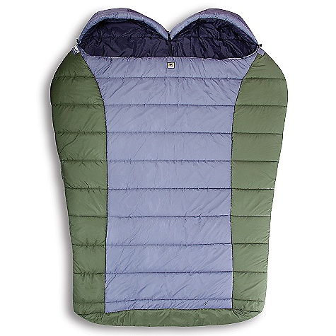 Camp and Hike Free Shipping. Mountainsmith Loveland 30 Degree Sleeping Bag DECENT FEATURES of the Mountainsmith Loveland 30 Degree Sleeping Bag Additional Neck Baffle On Models 25F and Lower Drawstring Form-Fitting Adjustable Hood Right Hand Zipper with Anti-Snag Reinforcement and Full Length Draft Tube Contoured Footbox For Extra Comfort and Hanging Loops For Drying and Storage Quilted Differential Cut For Optimal Loft, Heat Retention and Anti-Migration Cotton storage sack included Relaxed double mummy shape Dual side zippers Side release buckle divider separates mummy hoods Differential cut for optimal loft and anti-migration Adjustable hood Foot-length, two-way locking zipper Anti-snag zipper reinforcement 60/40 insulation differential (60% on top / 40% on bottom) The SPECS Temp Rating: 30deg / 1deg C Fit Range: 6'-4in. Dimension: 80 x 68in. Shoulder Girth: 136in. (for two people) Weight: 10 lbs / 4.5 kg Fill Weight: 2.55 kg 75D x 240T Diamond Poly Ripstop, W/R, CIRE 50D x 290T Taffeta Poly Liner W/R, CIRE MountainLoft Hollow fibers - $189.95