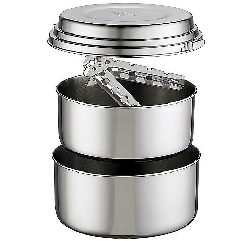 Free Shipping. MSR Alpine 2 Pot Set DECENT FEATURES of the MSR Alpine 2 Pot Set Includes: 1.5L and 2L Stainless steel pots (1) lid (1) PanHandler and stuff sack The SPECS Weight: 21.3 oz / 604 g Packed Size: 8in. x 4.5in. / 20.32 x 11.43 cm This product can only be shipped within the United States. Please don't hate us. - $49.95