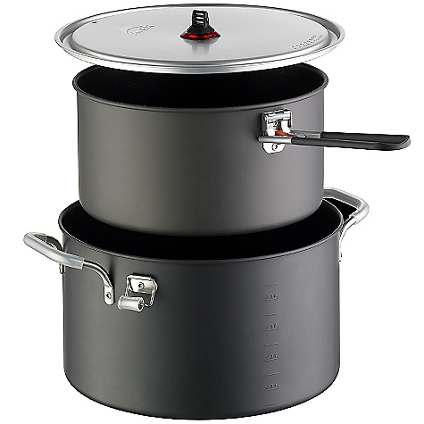 On Sale. Free Shipping. MSR Flex 4 Pot Set DECENT FEATURES of the MSR Flex 4 Pot Set 3.2L Nonstick DuraLite DX aluminum pot Dual-handle 5.3L hard, anodized aluminum pot (2) Strainer Lids Talon Pot Handle The SPECS Weight: 29.9 oz / 847 g Packed Size: 12in. x 6.25in. / 30.48 x 15.88 cm This product can only be shipped within the United States. Please don't hate us. - $97.99