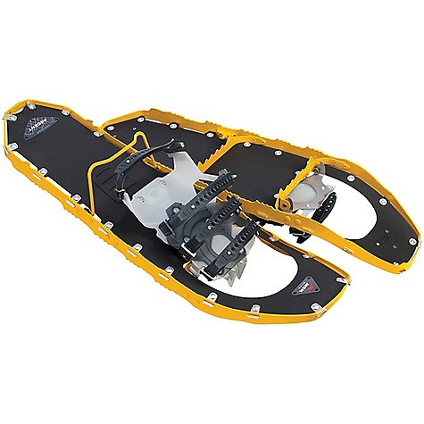 On Sale. Free Shipping. MSR Lightning Ascent Snowshoes DECENT FEATURES of the MSR Lightning Ascent Snowshoe PosiLock AT Binding System with Pivot Crampon 360deg Traction Frame with Modular Flotation Ergo Televator The SPECS for 22 Size: 22in. / 56 cm Weight: 3 lbs 13 oz / 1728 g The SPECS for 25 Size: 25in. / 64 cm Weight: 3 lbs 15 oz / 1785 g The SPECS for 30 Size: 30in. / 76 cm Weight: 4 lbs 7 oz / 2012 g OVERSIZE ITEM: We cannot ship this product by any expedited shipping method (3-Day, 2-Day or Next Day). Even if you pick that option, it will still go Ground Shipping. Sorry for being so mean. - $214.99