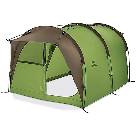 Camp and Hike Free Shipping. MSR Backcountry Barn 4 - 5 Person Tent DECENT FEATURES of the MSR Backcountry Barn 4 - 5 Person Tent Easy Set-up: Straightforward design keeps set-up uncommonly easy for a tent of this size Big and Livable: 1.9 m (74in.) center height and large windows at front and rear with awnings allow great ventilation in any weather Stable: Advanced design and multiple guy out points add security in windy conditions Smart: Detachable bathtub floor allows customized use of interior spaces The SPECS Capacity: 4-5 Person Doors: 1 Minimum Weight: 14 lbs 11 oz / 6.65 kg Packed Weight: 15 lbs 8 oz / 7.03 kg Floor Area: 7.4 square meter / 80 square feet Tent Volume: 346 cubic feet / 9797 liter Interior Peak Height: 74in. / 188 cm Packed Size: 28in. x 12in. / 71 x 30 cm Fabric: Fly: 40 D X 238T ripstop nylon 6, 1,500 mm Durashield polyurethane and silicone coated, Canopy: 20 D nylon micromesh, Floor: 40 D x 238T ripstop nylon 6, 3000 mm Dura Shield polyurethane coated This product can only be shipped within the United States. Please don't hate us. - $849.95