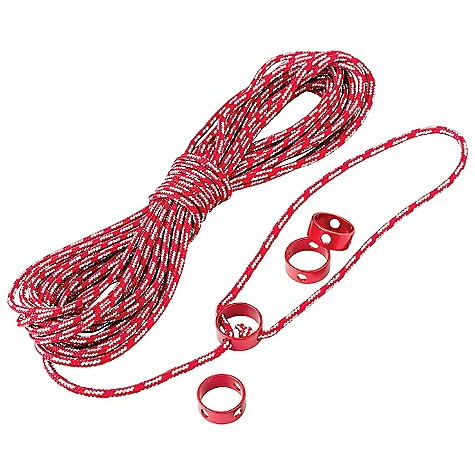 Camp and Hike MSR Reflective Utility Cord Kit DECENT FEATURES of the MSR Reflective Utility Cord Kit 4 Cam Ring Cord Tensioners. 49.2 feet.(15 m) of highly reflective 3mm nylon cord Ideal for hanging food and guying tarps Highly visible cord minimizes tripping, aids in locating gear This product can only be shipped within the United States. Please don't hate us. - $22.95