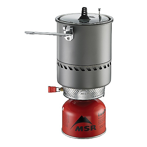 Free Shipping. MSR Reactor 1.7L Stove System DECENT FEATURES of the MSR Reactor Stove System Unmatched Wind Protection: Radiant burner head is enclosed by heat exchanger for maximum protection in even the windiest conditions. Unrivaled Boil Time: Out-performs the competition in lab tests-boiling a liter of water in just 3 minutes-with a far greater advantage in windy conditions. Patent-pending radiant burner and heat exchanger make the Reactor the most efficient all-condition stove system, so you carry less fuel. State-of-the-art stove and high-efficiency pot are combined into one compact, easy-to-use system. The SPECS Minimum Weight: 1 lbs 1.5 oz / 496 g Packed Weight: 1 lbs 2.1 oz / 513 g Burn time: (MSR IsoPro) per 227-g / 8-oz. canister Appx. 80 minutes Boil time (MSR IsoPro), 1 liter: 3 minutes Water boiled (MSR IsoPro) per 227-g canister: 22 liters Water boiled (MSR IsoPro) per 1 oz. of fuel: 2.8 liters This product can only be shipped within the United States. Please don't hate us. - $179.95