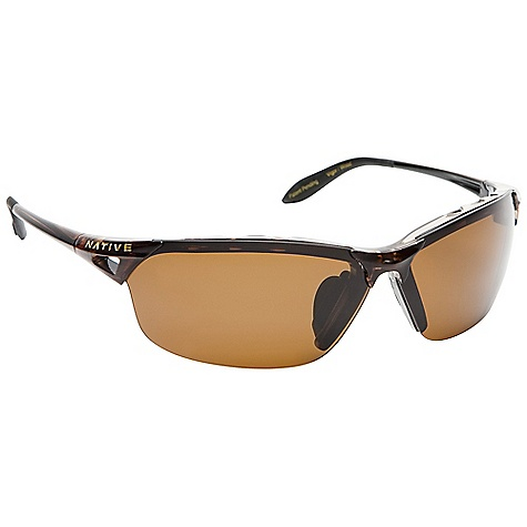 Entertainment On Sale. Free Shipping. Native Vigor Sunglasses DECENT FEATURES of the Native Vigor Sunglasses Interchangeable Lens System Rhyno-Tuff Air Frames Venting Cushinol Cam-Action Hinges Mastoid Temple Grip Anti-Ocular Intrusion System Wire Core Temple Optic Gear Kit and Sport Flex Included Fit Profile: Large - $95.16