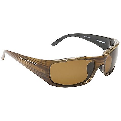 Entertainment Free Shipping. Native Bomber Sunglasses DECENT FEATURES of the Native Bomber Sunglasses Double Snap-Back Interchangeable Lens System Rhyno-Tuff Air Frames Venting Cushinol Cam-Action Hinges Mastoid Temple Grip Anti-Ocular Intrusion System Soft Case Included Fit Profile: Large - $98.95