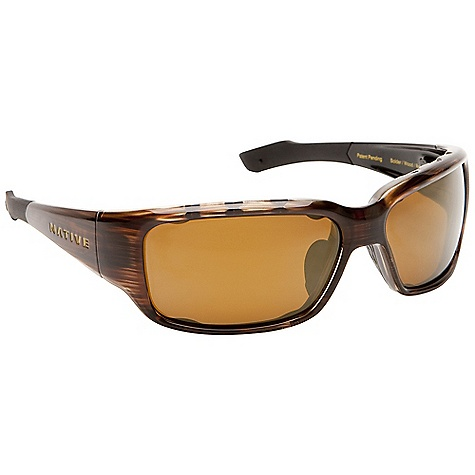 Entertainment On Sale. Free Shipping. Native Bolder Sunglasses DECENT FEATURES of the Native Bolder Sunglasses Double Snap-Back Interchangeable Lens System Rhyno-Tuff Air Frames Venting Cushinol Cam-Action Hinges Mastoid Temple Grip Anti-Ocular Intrusion System Optic Gear Kit and Sport Flex Included Fit Profile: Medium - Large - $64.99