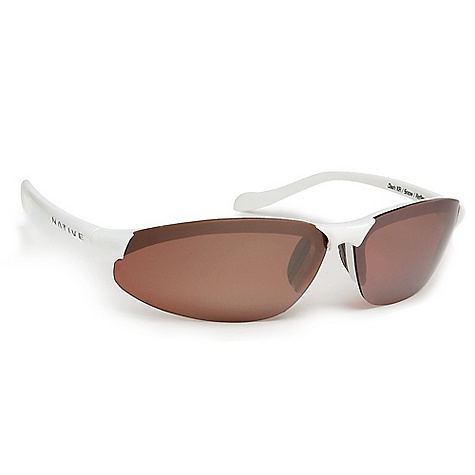 Entertainment On Sale. Free Shipping. Native Dash XR Polarized Sunglasses Dash XR Sunglasses by Native reduce glare, which is reflected light that travels on a horizontal plane. Virtually any surface can be a source of glare, including water, sand, pavement, ice and snow. All of Native's Polarized Crystal Carbonate (P.C.C.) lenses incorporate a polarized filter which absorbs the horizontal light thus eliminating the glare. You're left with sharp, crisp, glare-free vision with increased contrast and depth perception. Lifetime warranty. Specifications: Fit Size: Best fits a medium to large profile Weight: 0.60 oz. Features: Interchangeable Lens. Designed to quickly and efficiently utilize all of Native's lens options, so you can adjust to all light conditions. Rhyno-Tuff Air Frames. A proprietary high performance thermoplastic material, which is extremely lightweight, yet durable enough to withstand high velocity collisions and temperature extremes. Venting Systems. Incorporates exhaust vents into its design framework to enhance airflow which virtually eliminates fog and condensation. This unique design feature is the only system available that allows maximum ventilation while blocking extraneous incoming light. Cushinol. This material ensures a soft feel and custom fit regardless of head shape or size. Mastoid Temple Grip. This proprietary design feature ensures the temple ends hug the mastiod bone (behind your ears) which allows for a secure and comfortable fit. - $93.99