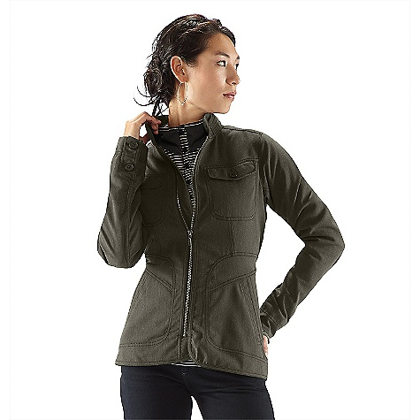 On Sale. Free Shipping. Nau Women's Decypher Jacket DECENT FEATURES of the Nau Women's Decypher Jacket Lined sleeves and torso Metal front zip with wind flap Button tab on collar for neck coverage 2 hand zip pockets, 2 chest pockets and 1 drop-in back pocket Button sleeve plackets and cuffs Center back vent The SPECS Fabric: Shell: Double weave soft Shell with smooth face and loop back 2 way stretch with DWR finish 80% Teijin Ecocircle polyester 20% organic cotton means it can be recycled at the end of it's life 1/2 Lining: recycled polyester textured taffeta - $144.99