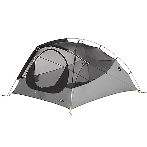 Camp and Hike Free Shipping. Nemo Espri LE 3 Person Tent DECENT FEATURES of the Nemo Espri LE 3 Person Tent A rear scoop vent keeps the rear vent deployed at all times, allowing low-to-high ventilation The vent construction is fully seam-taped and weatherproof Aggressive cutouts in the fly keep excellent tension and allow air circulation, even in the rain Interchangeable vestibules provide flexibility: the simple Ultralight Fly Door, Standard Vestibule, and the optional Trekking Pole Vestibule (shown) Optional Gear Loft with Light Pockets adds overhead storage without compromising floor space or elbow room The SPECS Capacity: 3 Person Minimum Weight: 4 lbs 12 oz / 2.2 kg Minimum Weight with Standard Vestibule 5 lbs 2 oz / 2.3 kg Packed Weight: 6 lbs 2 oz / 2.8 kg Floor Dimension: 87 x 69in. / 220 x 175 cm Interior Height: 40in. / 102 cm Floor Area: 39 square feet / 3.6 square meter Vestibule Area: 15 square feet / 1.4 square meter Packed Size: 18 x 8 Diameter: 46 x 20 cm Shell: Mesh / 30D PU Nylon Fly/Vestibule: 30D PU Nylon Floor: 30D PU Nylon Stuff Sack Style: Drawstring Frame 3 Aluminum Poles Trekking Pole Vestibule Area 24 square feet / 2.2 square meter Included Accessories: Drawstring style stuff sack, Ultralight Fly Door, Standard Vestibule, stakes, guy-out cord, repair kit Optional Accessories:Trekking Pole Vestibule, Footprint, Pawprint, Gear Loft OVERSIZE ITEM: We cannot ship this product by any expedited shipping method (3-Day, 2-Day or Next Day). Even if you pick that option, it will still go Ground Shipping. Sorry for being so mean. This product can only be shipped within the United States. Please don't hate us. Nemo products cannot be shipped to Japan. Please don't hate us. - $329.95