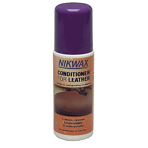 Nikwax Liquid Leather Conditioner DECENT FEATURES of the Nikwax Liquid Leather Conditioner Conditions and restores suppleness of smooth finished or waxed leathers Ideal for waterproof leathers and breaking-in new boots Volume: 4.2 fl. oz / 125 ml - $8.50
