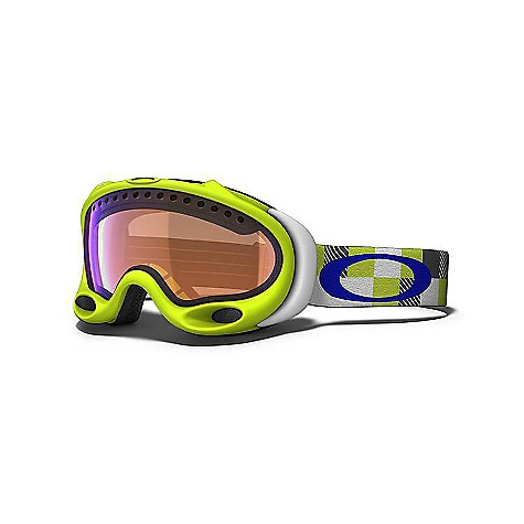 Ski Free Shipping. Oakley A Frame Goggles DECENT FEATURES of the Oakley A Frame Goggles Anti Fog Treated Ballistic Lens Plutonite lens pass ANSI standard Z87.1 for optical clarity, high mass and high velocity impact Patented Polaric Ellipsoid lens geometry 100% protection against UV A, B and harmful blue light Triple polar-tech fleece face foam for maximum moisture wicking Optically corrected dual lens goggle Superior venting to eliminate fogging - $130.00