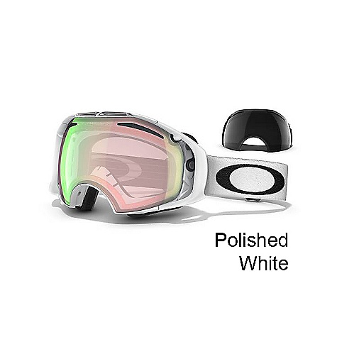 Ski Free Shipping. Oakley Airbrake Goggles DECENT FEATURES of the Oakley Airbrake Goggles Switchlock Technology for the quickest and easiest lens change for any light condition Comes standard with two lens tints and case Rigid Front Frame with Flexible O-Matter Rear chassis Rigid Frame support to minimize optical distortion, eliminate nasal pressure and maximize airflow All day comfort of moisture wicking triple-layer polar fleece foam Balanced fit (with or without helmet) via Fixed O-Matter Interchangeable Strap Outriggers Fog elimination of dual vented lenses with F3 Anti-fog technology Tuned light transmission of IRidium lens coating (optional) Reduced glare of Oakley Polarization UV protection of Plutonite&reg lens that filters out 100% of UVA/ UVB/ UVC & harmful blue light up to 400nm Optimized to fit medium to large faces - $220.00