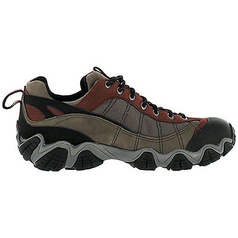 Camp and Hike Free Shipping. Oboz Men's Firebrand II Shoe DECENT FEATURES of the Oboz Men's Firebrand II Shoe Waterproof Nubuck Leather and High Abrasion Resistant Textile Oboz BDry Waterproof/Breathable Membrane Molded Rubber Toe Rand BFit Deluxe Dual Density EVA Nylon Shank Sawtooth Outsole The SPECS Weight: 1/2 pair: 18.3 oz - $140.00