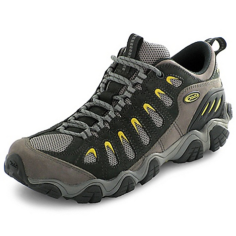Camp and Hike Free Shipping. Oboz Men's Sawtooth Low Shoe FEATURES of the Oboz Men's Sawtooth Low Shoe Nubuck leather and high abrasion resistant textile upper 3D molded heel counter is extra durable BFit Deluxe stabilizes arches and protects high impact zones Dual density EVA Nylon shank for added stability Sawtooth Outsole has sidewall lugs that shed mud and maintain stability - $110.00