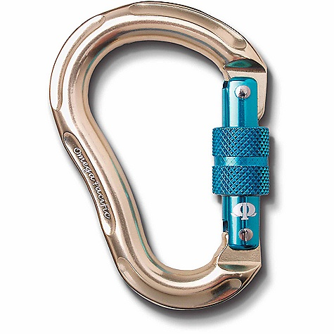 Climbing Omega Pacific Jake Jr. Screw-Lock Carabiner SPECIFICATIONS of the Jake Jr. Screw-Lock Carabiner by Omega Pacific Gate Opening: 21 mm / .827 inch Major Axis: 24kN Gate Open: 9kN Minor Axis: 10kN Weight: 91 grams / 3.2 ounces Length: 104.1 mm / 4.1 inch Width: 72.6 mm / 2.86 inch ALL CLIMBING SALES ARE FINAL. - $13.95