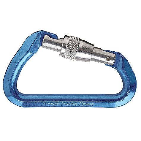Climbing Omega Pacific Classic Keylock Screw-Lock Carabiner SPECIFICATIONS of the Classic Keylock Screw-Lock Carabiner by Omega Pacific Gate opening: 15 / .551 inch Major axis: 24kN Gate open: 7kN Minor axis: 8kN Weight: 60 grams / 2.1 ounces Length: 104.1 mm / 4.10 inch Width: 58.4 mm / 2.30 inch ALL CLIMBING SALES ARE FINAL. - $10.85