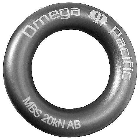 Climbing Omega Pacific Rappel Rings The SPECS Material: Forged aluminum Weight: 34 grams / 1.2 ounces Strength: 20kN - $4.95
