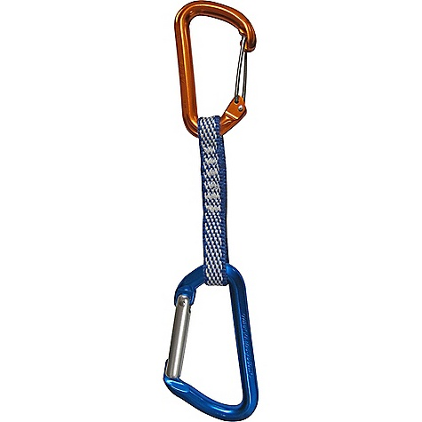 Climbing Omega Pacific Dash Keylock Straight-Wire Quickdraw The SPECS Carabiner 1: Dash Wire Gate Carabiner 2: Classic Keylock Straight Draw Strength: 22kN Weight: 116 grams The SPECS for the Dash Wire Gate Carabiner Gate Opening: 24 mm / 0.930 inch Major-Axis Strength: 25 kN Gate Open Strength: 7 kN Minor-Axis Strength: 7 kN The SPECS for the Classic Keylock Straight Carabiner Gate Opening: 17 mm / 0.669 inch Major-Axis Strength: 24 kN Gate Open Strength: 7 kN Minor-Axis Strength: 8 kN ALL CLIMBING SALES ARE FINAL. - $19.75