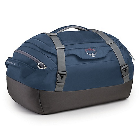 Entertainment Free Shipping. Osprey Transporter 75 Duffel Bag DECENT FEATURES of the Osprey Transporter 75 Duffel Bag Padded bottom to protect contents Compression wrap straps Stows in self-storing zippered pocket Zip pocket in top lid End pockets Shoulder strap attachments Dual end pockets Quik-Carry harness, stows in end pocket The SPECS Volume: 4577 cubic inches / 75 liter Weight: 2 lbs 1 oz / 0.93 kg Dimension: (H x W x D): 25 x 17 x 11in. / 63 x 43 x 28 cm 1680D ballistic 420D nylon packcloth OVERSIZE ITEM: We cannot ship this product by any expedited shipping method (3-Day, 2-Day or Next Day). Even if you pick that option, it will still go Ground Shipping. Sorry for being so mean. - $89.00