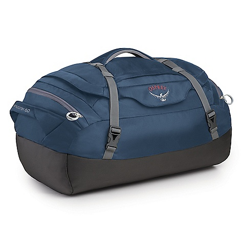 Entertainment Free Shipping. Osprey Transporter 60 Duffel Bag DECENT FEATURES of the Osprey Transporter 60 Duffel Bag Padded bottom to protect contents Compression wrap straps Stows in self-storing zippered pocket Zip pocket in top lid End pockets Shoulder strap attachments Dual end pockets Quik-Carry harness, stows in end pocket The SPECS Volume: 3661 cubic inches / 60 liter Weight: 1 lb 13 oz / 0.81 kg Dimension: (H x W x D): 23 x 16 x 10in. / 58 x 41 x 26 cm 1680D ballistic 420D nylon packcloth OVERSIZE ITEM: We cannot ship this product by any expedited shipping method (3-Day, 2-Day or Next Day). Even if you pick that option, it will still go Ground Shipping. Sorry for being so mean. - $79.00