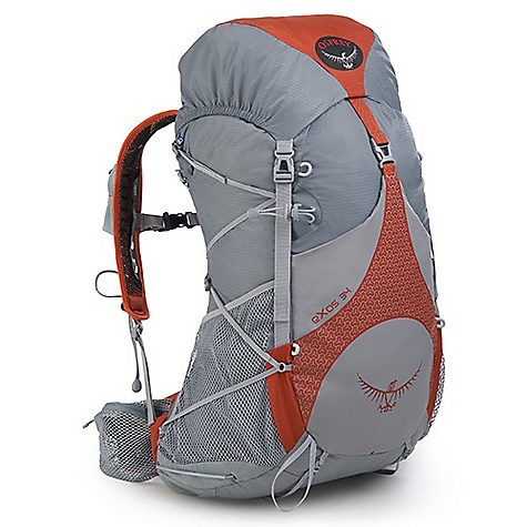 Camp and Hike Free Shipping. Osprey Exos 34 Pack DECENT FEATURES of the Osprey Exos 34 Pack Removable floating top pocket Superlight 7mm webbing side compression Stow-on-the-Go trekking pole attachment Front Stretch woven pocket with integrated over-skirt compression strap Cord tie-off points Under-lid pocket Zippered mesh hipbelt pockets Sleeping pad straps Side stretch woven pockets with InsideOut compression Single tool attachment with bungee tie-off Mesh hipbelt Highly Ventilated And Supportive Biostretch Harness Mesh covered slotted foam Adjustable sternum strap with whistle Gel pocket Modified Air Speed Suspension 6061-T6 aluminum frame 3D tensioned breathable mesh backpanel with side ventilation Biostretch Hipbelt Mesh covered slotted foam ErgoPull closure The SPECS 70D x 100D shadowcheck 160 x 210 window ripstop Dimension: (H x W x D): 26 x 13 x 9in. / 65 x 34 x 23 cm The SPECS for Small Volume: 1953 cubic inches / 32 liter Weight: 2 lbs / 0.91 kg The SPECS for Medium Volume: 2075 cubic inches / 34 liter Weight: 2 lbs 2 oz / 0.96 kg The SPECS for Large Volume: 2197 cubic inches / 36 liter Weight: 2 lbs 3 oz / 0.99 kg OVERSIZE ITEM: We cannot ship this product by any expedited shipping method (3-Day, 2-Day or Next Day). Even if you pick that option, it will still go Ground Shipping. Sorry for being so mean. - $149.00