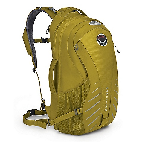 Free Shipping. Osprey Momentum 26 Pack DECENT FEATURES of the Osprey Momentum 26 Pack Built-in snug fitting high visibility raincover LidLock helmet clip Separate, padded laptop sleeve, with file sleeve Large cell phone pocket on shoulder strap Key pocket on shoulder strap with retractable key clip Side compression straps Padded top and side grab handle Tuck-away shoulder straps Reflective print on front panel Blinker light attachment Front stash pocket with organizer Internal organizer for pump, tubes and tools Zippered expansion panel adds 8 liters to capacity Stretch woven side pockets The SPECS 420 nailhead nylon 420 HD nylon 210D nylon brick shadow Dimension: (H x W x D): 22 x 12 x 13in. / 55 x 30 x 32 cm The SPECS for S/M Volume: 1465 cubic inches / 24 liter Weight: 2 lbs 10 oz / 1.18 kg The SPECS for M/L Volume: 1587 cubic inches / 26 liter Weight: 2 lbs 11 oz / 1.23 kg OVERSIZE ITEM: We cannot ship this product by any expedited shipping method (3-Day, 2-Day or Next Day). Even if you pick that option, it will still go Ground Shipping. Sorry for being so mean. - $129.00