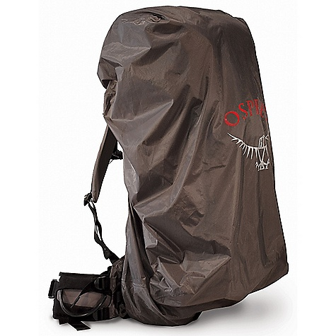 Osprey UL Raincover DECENT FEATURES of the Osprey UL Raincover Stows in its own pouch Drawcord closure with snap attachment Taped seams The SPECS for Extra Small Volume: 600-1200 cubic inches / 10-20 liter Weight: 2 oz / 0.06 kg The SPECS for Small Volume: 1200-2400 cubic inches / 20-40 liter Weight: 4 oz / 0.10 kg The SPECS for Medium Volume: 2400-4300 cubic inches / 40-70 liter Weight: 5 oz / 0.14 kg The SPECS for Large Volume: 3600+ cubic inches / 60+ liter Weight: 6 oz / 0.16 kg - $24.00