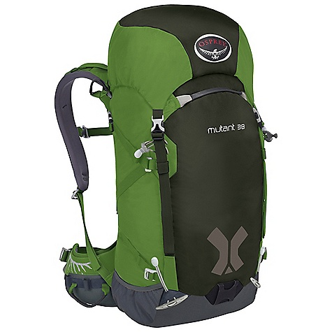Climbing Free Shipping. Osprey Mutant 38 Pack DECENT FEATURES of the Osprey Mutant 38 Pack Removable dual compartment top pocket with spindrift collar Three-point haul system Dual ToolLock for leashless ice tool attachment Wand / ice-pro pocket Z-style side compression with top quick release Under lid rope compression strap Removable 3-fold EVA bivy pad and HDPE framesheet New Dual ToolLock for leashless ice tool attachment Built-in hipbelt Fixed Stretch Comfort Harness Adjustable sternum strap with safety whistle buckle Contoured EVA Hipbelt Reverse wrap stowable ErgoPull closure Ice clipper loops The SPECS Matrix 420D nylon 315D Cordura nylon 420HD nylon 900D polyester Dimension: (H x W x D): 31 x 14 x 11in. / 80 x 35 x 29 cm The SPECS for Small Volume: 2136 cubic inches / 35 liter Weight: 2 lbs 13 oz / 1.28 kg Weight: Stripped: 2 lbs / 0.91 kg The SPECS for Medium Volume: 2319 cubic inches / 38 liter Weight: 2 lbs 5 oz / 1.33 kg Weight: Stripped: 2 lbs 1 oz / 0.93 kg The SPECS for Large Volume: 2502 cubic inches / 41 liter Weight: 3 lbs 2 oz / 1.42 kg Weight: Stripped: 2 lbs 2 oz / 0.95 kg OVERSIZE ITEM: We cannot ship this product by any expedited shipping method (3-Day, 2-Day or Next Day). Even if you pick that option, it will still go Ground Shipping. Sorry for being so mean. - $159.00