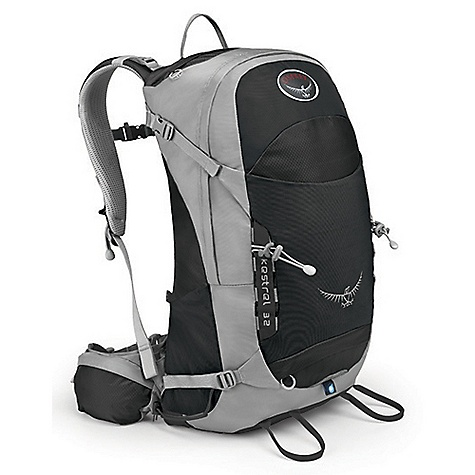 Camp and Hike Free Shipping. Osprey Kestrel 32 Pack DECENT FEATURES of the Osprey Kestrel 32 Pack Lightwire frame Airscape suspension Torso-adjustable harness Stretch woven front pocket Stretch woven side pockets Zippered hipbelt pockets Front daisies with bungee tie-offs Dual ice tool loops Stow-on-the-Go trekking pole attachment Reverse Straight Jacket compression straps Integrated rain cover Panel loading Top mesh zip pocket The SPECS 420D nylon pack cloth 210 double diamond nylon The SPECS for S/M Capacity: 1831 cubic inches / 30 liter Weight: 2 lbs 10 oz / 1.20 kg The SPECS for M/L Capacity: 1953 cubic inches / 32 liter Weight: 2 lbs 12 oz / 1.24 kg Dimension: 26in. x 14in. x 13in. / 65 x 36 x 33 cm Load Range: 20 - 35 lbs / 9.1 - 15.9 kg - $139.00