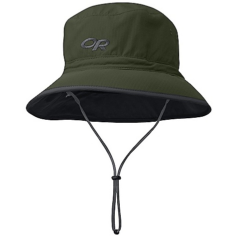 The Outdoor Research Sun Bucket Hat. This bucket offers UPF 50+ sun protection. The shorter brim is more stable in gusty conditions, but still offers sun protection. A drawcord adjustment keeps it firmly attached to your head. Features of the Outdoor Research Sun Bucket Hat Breathable Lightweight Wicking Protective SolarShield Construction UPF 50+ Wicking TransAction Headband External Drawcord Adjustment Removable Chin Cord - $35.00