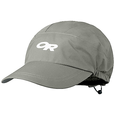 On Sale. Outdoor Research Drifter Cap DECENT FEATURES of the Outdoor Research Drifter Cap Waterproof Breathable Seam taped Shaped, plastic-stiffened bill Fitted, 6-panel design Dark fabric under bill reduces glare External draw cord The SPECS Weight: (L): 2.0 oz / 57 g Fabric: 100% nylon; 2-layer, 70D Gore-Tex Paclite This product can only be shipped within the United States. Please don't hate us. - $26.99
